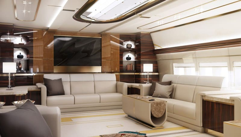 Perfect Boeing 747 8 Private Jet