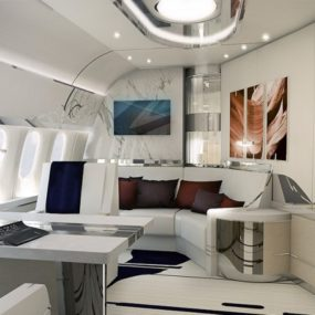 Jet Interior Design Luxury Living Best Private Jet Interior Designs