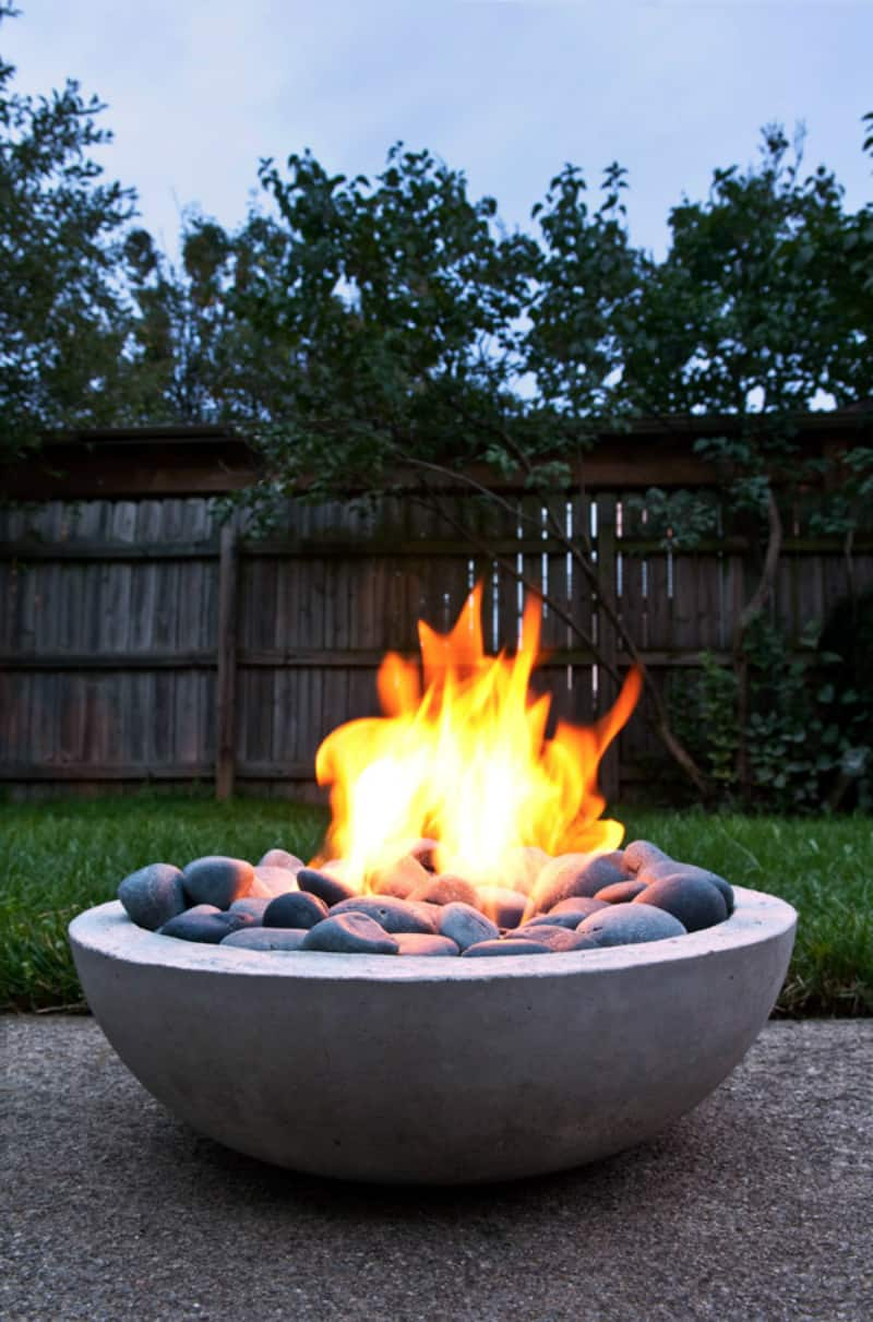 Concrete fire pit by Man Made DIY