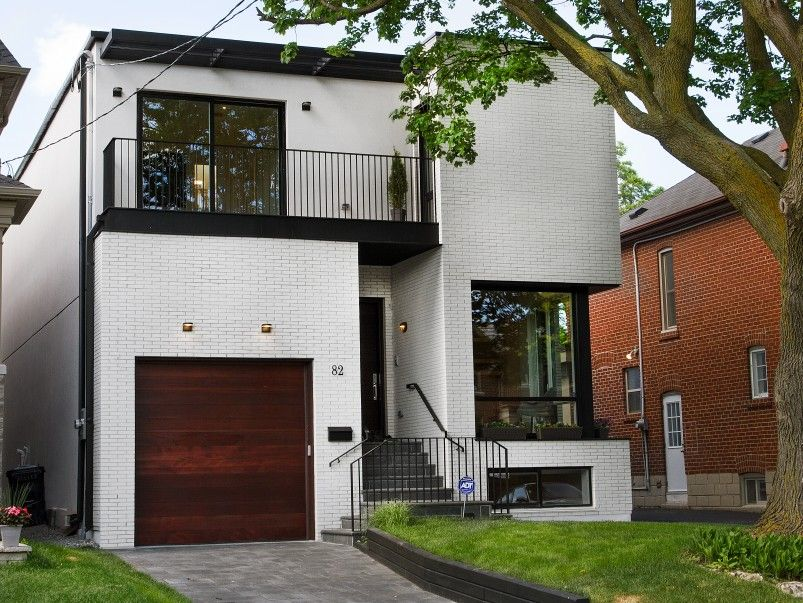 Contemporary White Brick Toronto