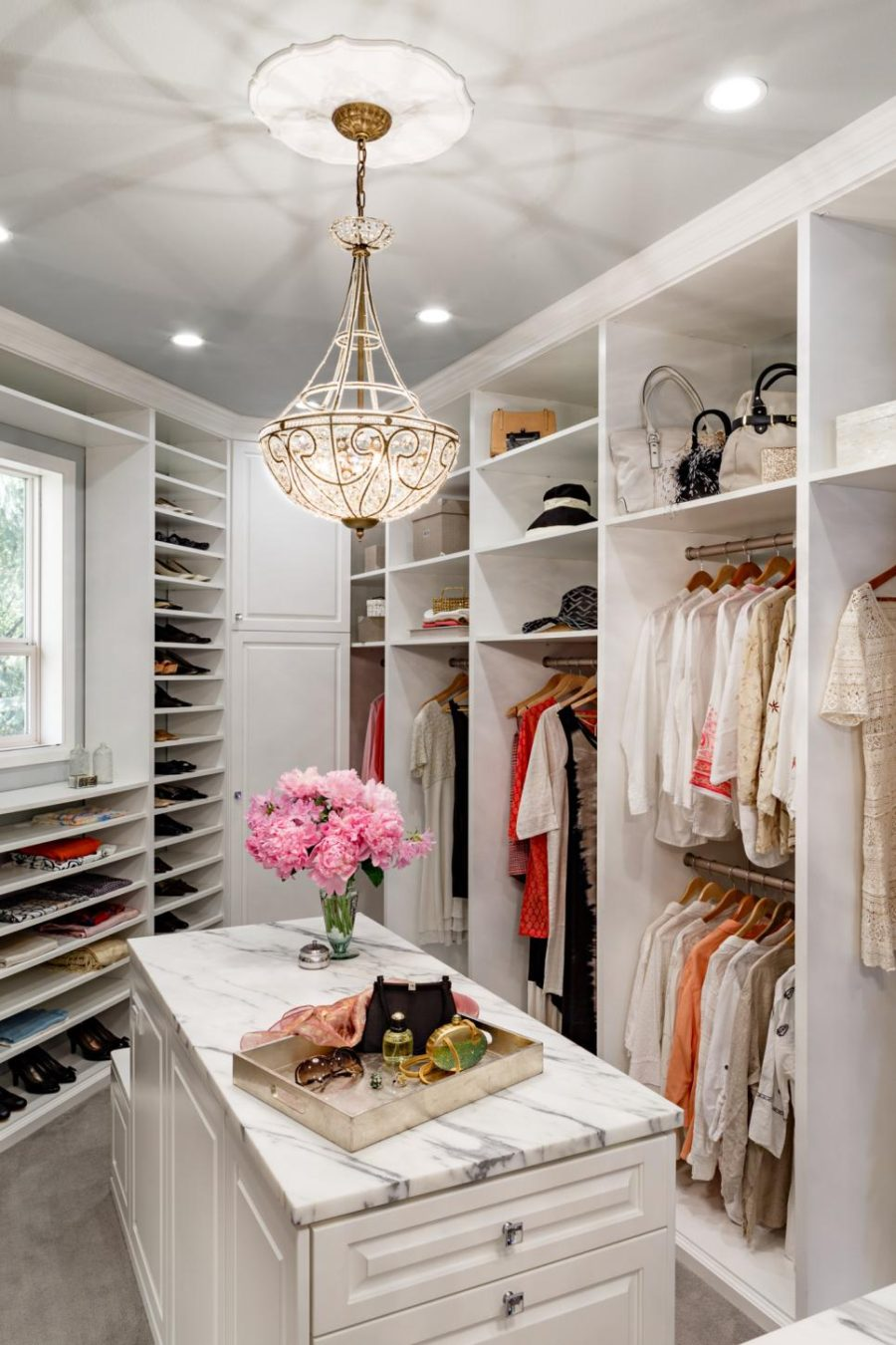 Customized closet by Mosaik Design & Remodeling