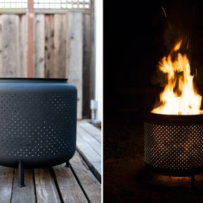 DIY fire pit by House and Fig 285x285 Turn Up the Heat With a Stylish Fire Pit