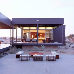 Desert House by Marmol Radziner 285x285 Turn Up the Heat With a Stylish Fire Pit