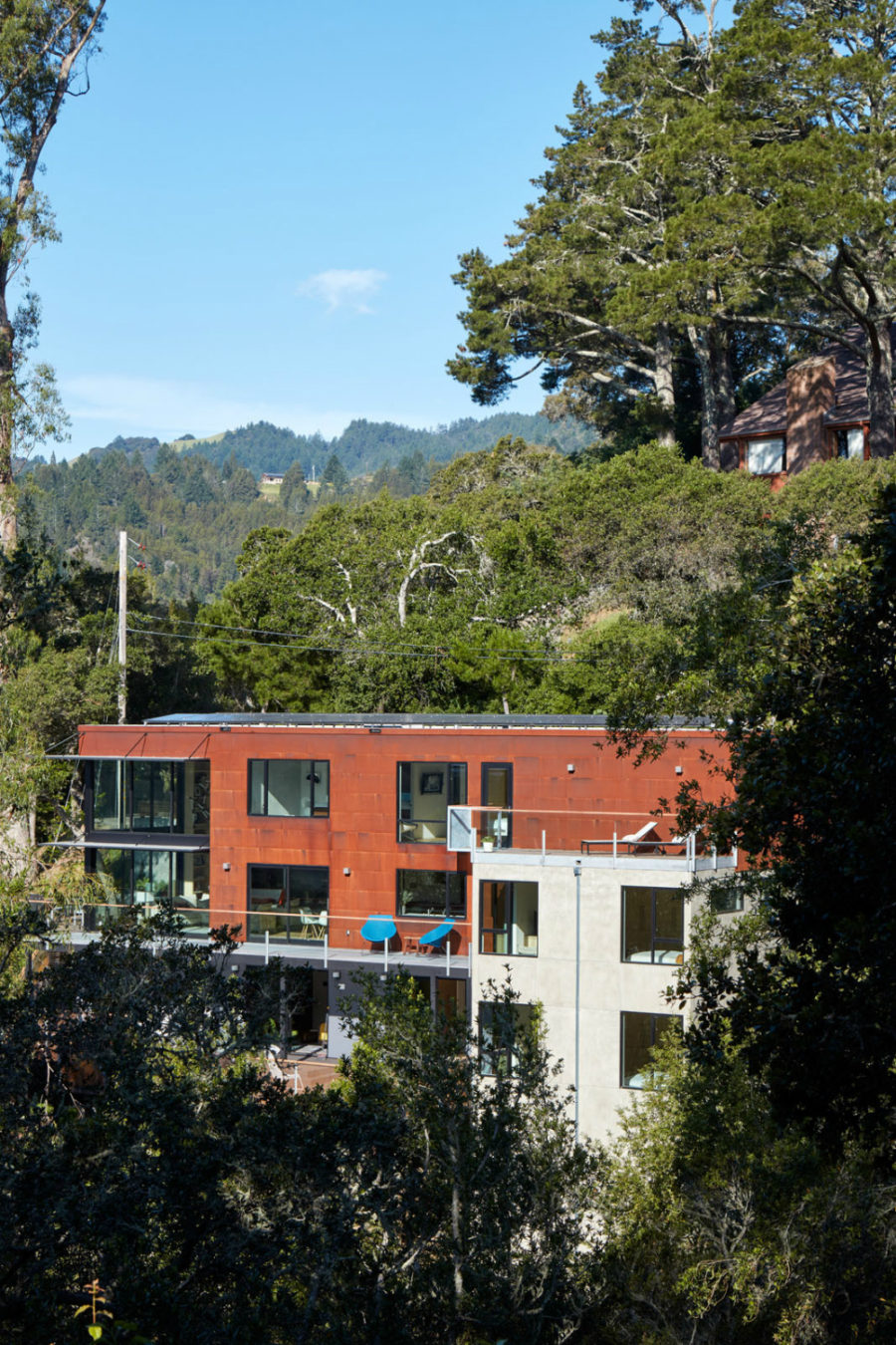 Distant view of Tamalpais Residence