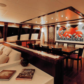 While The Yacht Exterior Design Is Something For Boat Enthusiasts To  Discern, Interior Aficionados Will Definitely Swoon Over These Wood Clad  Living Rooms, ...