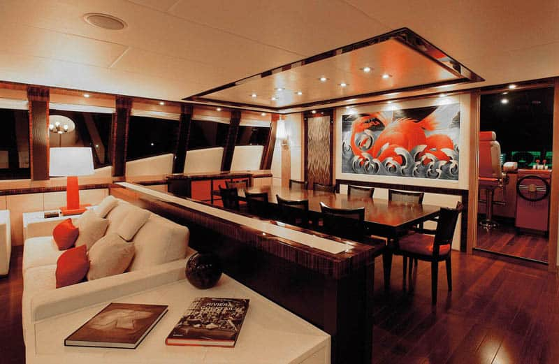 Dragon yacht dining area