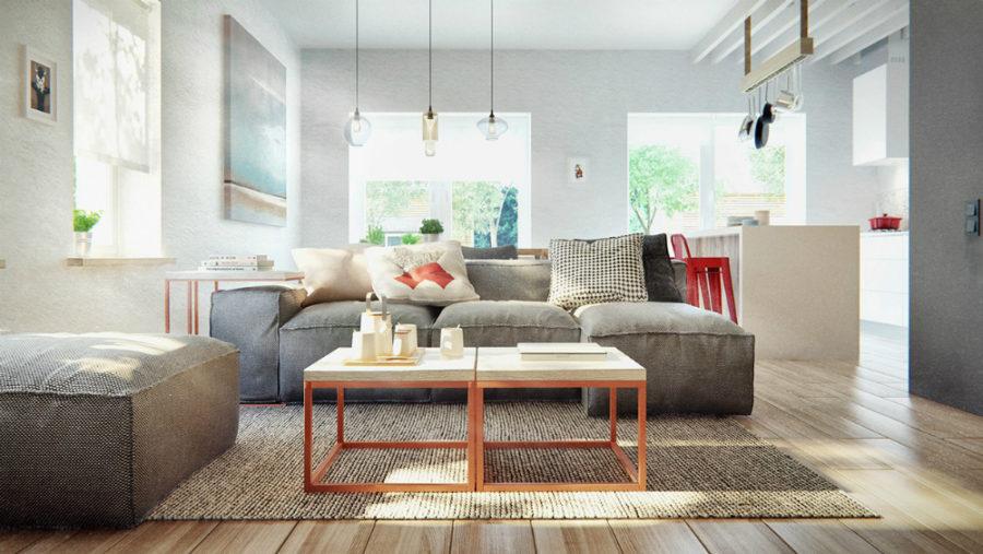 Duplex Penthouse in Scandinavian style