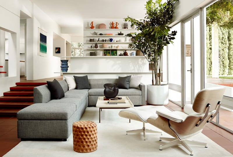 ... Eames Chair And Ottoman In White