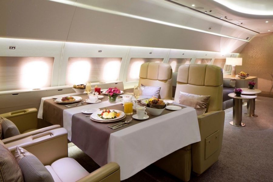 Luxury living best private jet interior designs for Bathroom design uae