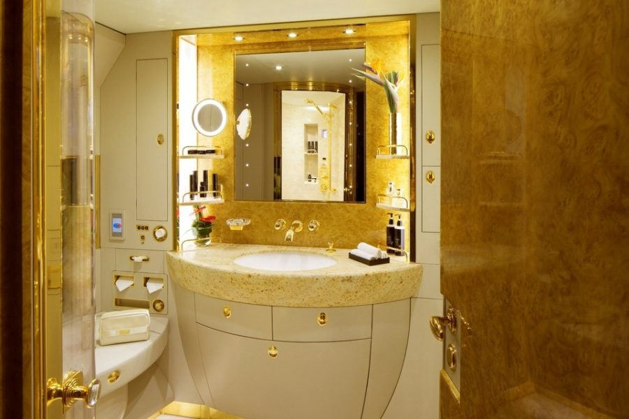 Luxury living best private jet interior designs for Private jet bathroom