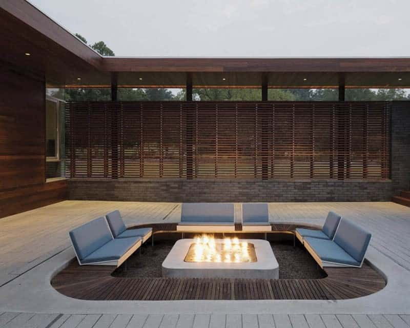 Fire pit by Hufft Projects