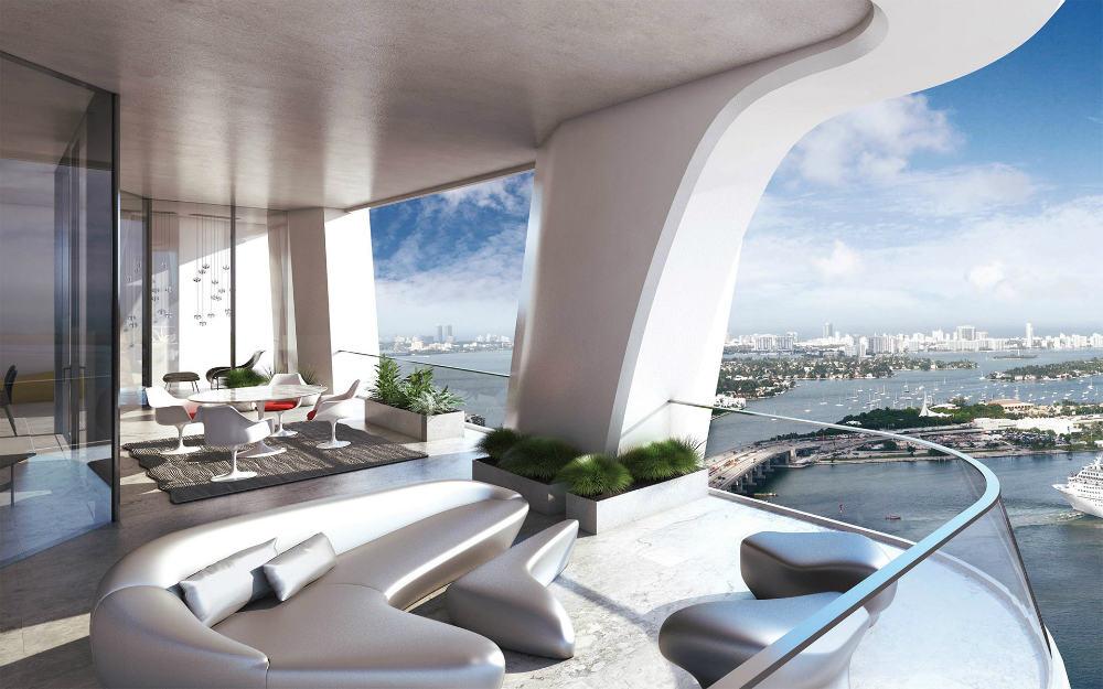 Futuristic balcony