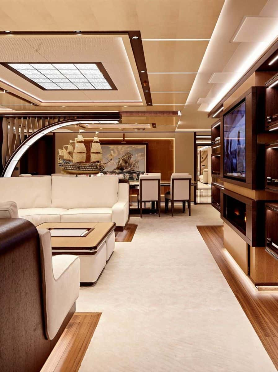 Best modern yacht interior designs for Designs of the interior