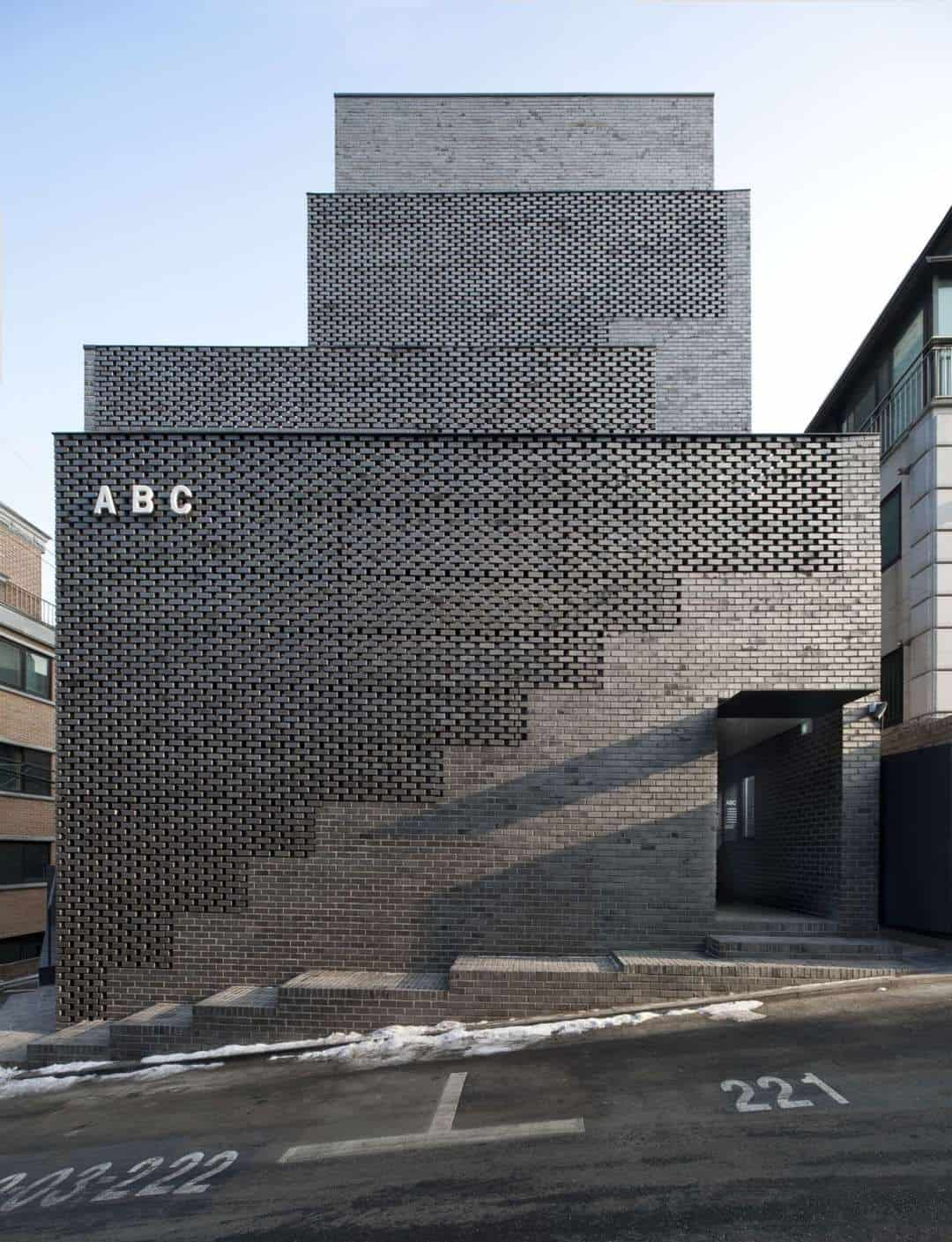 Grey Contemporary Brick Building
