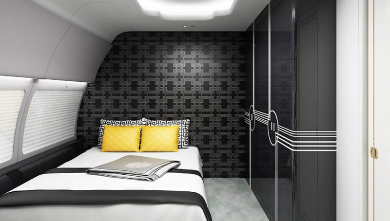 ... HAECO Private Jet Solutions Bedroom