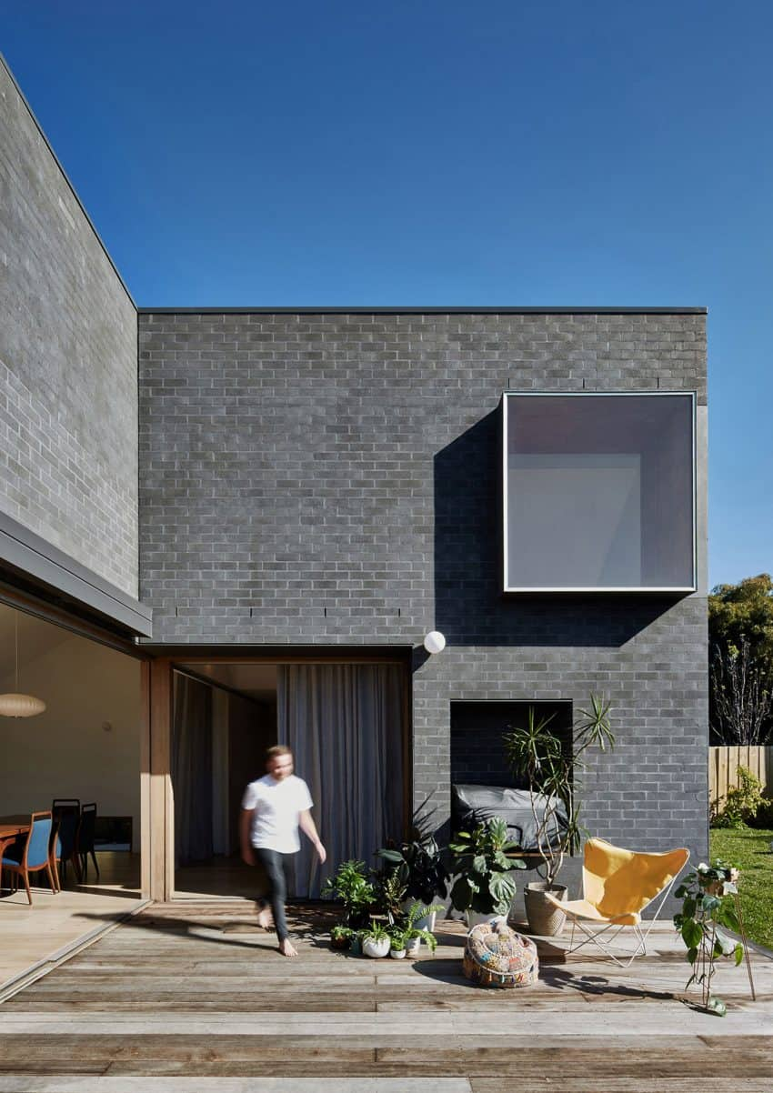 Hoddle House combines brick and wood in minimalist design Hoddle House Remodel in Australia Re Imagines Windows and Doors