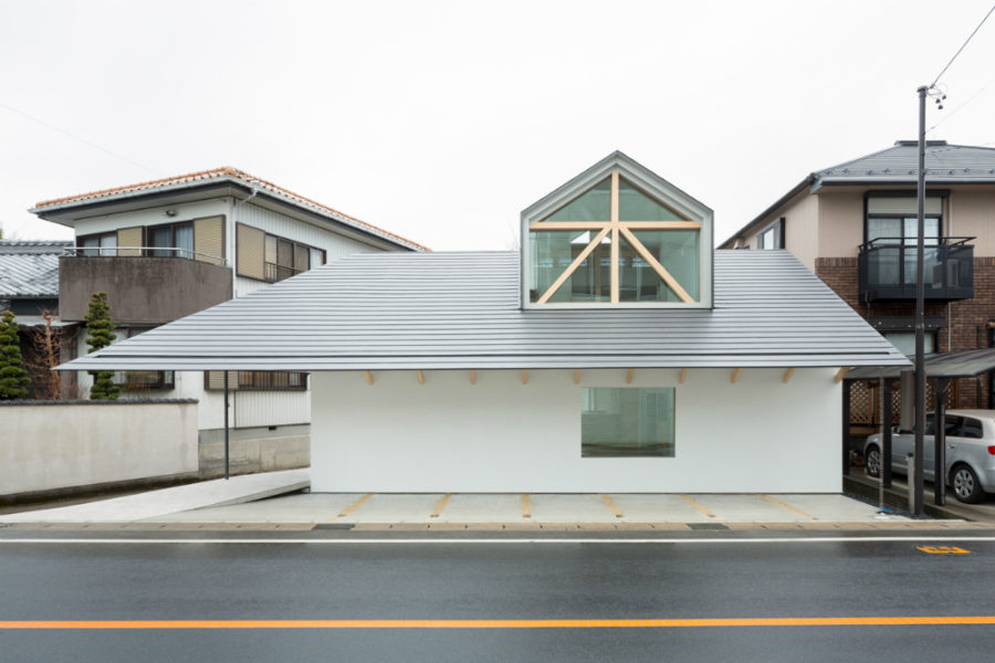House with Dormer Window by Hiroki Tominaga-Atelier