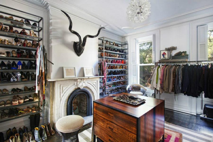 Jenna Lyon's Brooklyn Townhouse closet