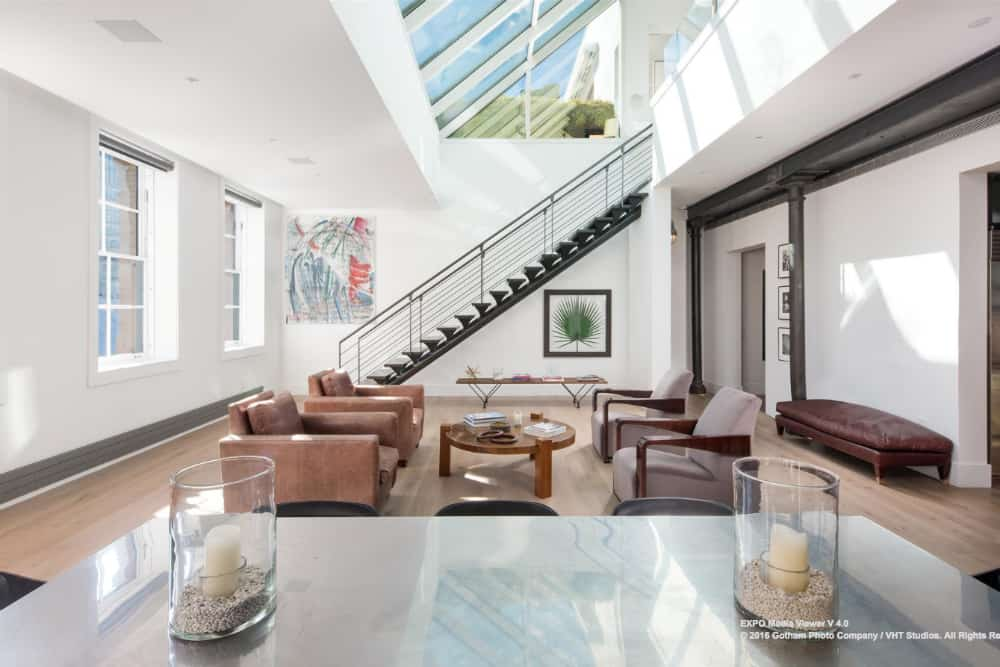 Jennifer Lawrence's duplex penthouse in Tribeca