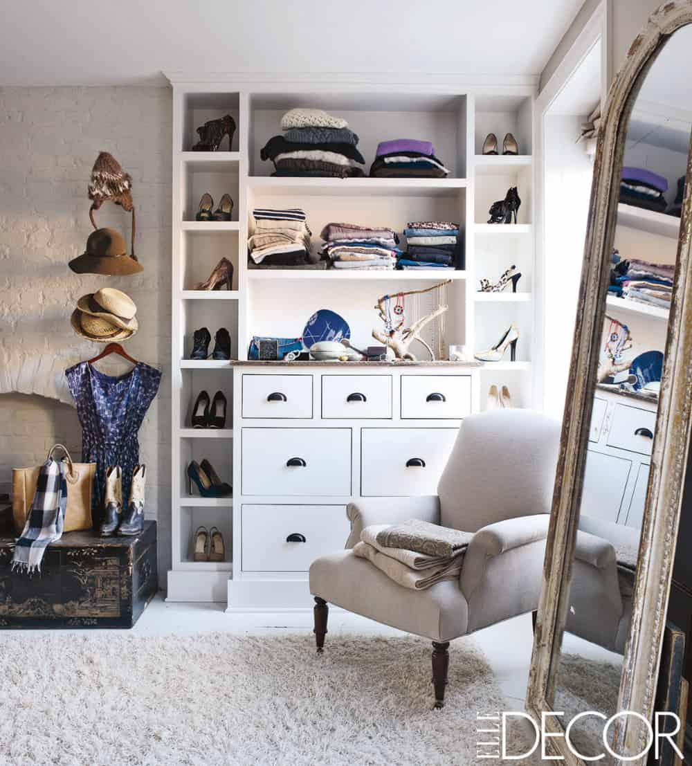 Keri Russell's closet design
