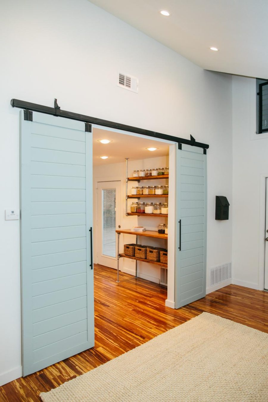 Kitchen pantry barn doors