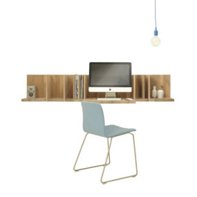 Lutgarde 285x285 Best Wall Mounted Desk Designs For Small Homes