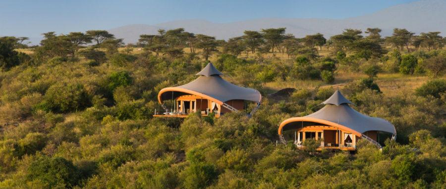 Mahali Mzuri tents in Maasai Mara safari camp