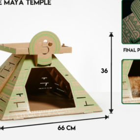 Maya Temple cat bed by Poopy Cat 285x285 Designer Cat Beds for Most Capricious Felines