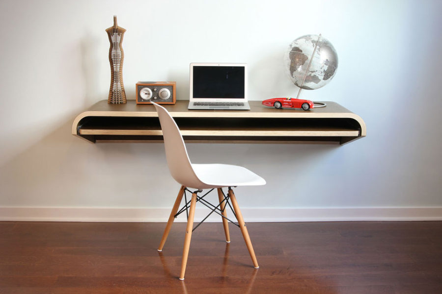 View In Gallery Minimal Floating Desk