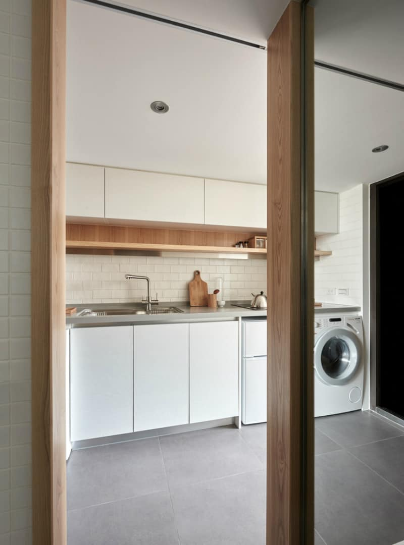 Minimalist kitchen is all about functionality