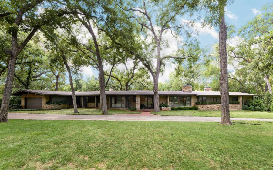 Modern Ranch Style Home Dallas Arts District Mid Century Dining
