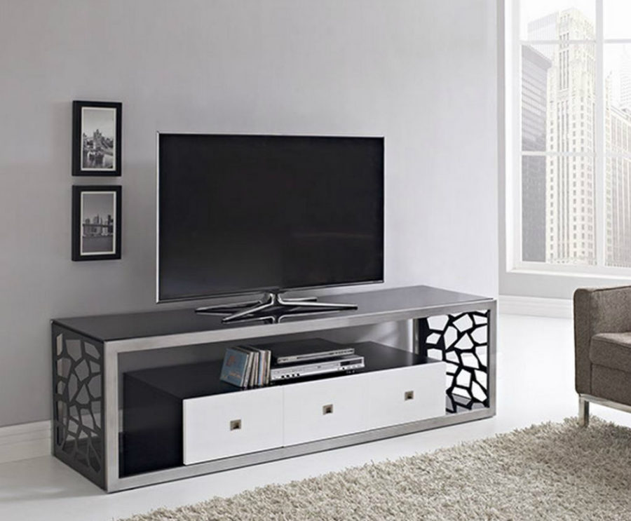 44 modern tv stand designs for ultimate home entertainment. Black Bedroom Furniture Sets. Home Design Ideas