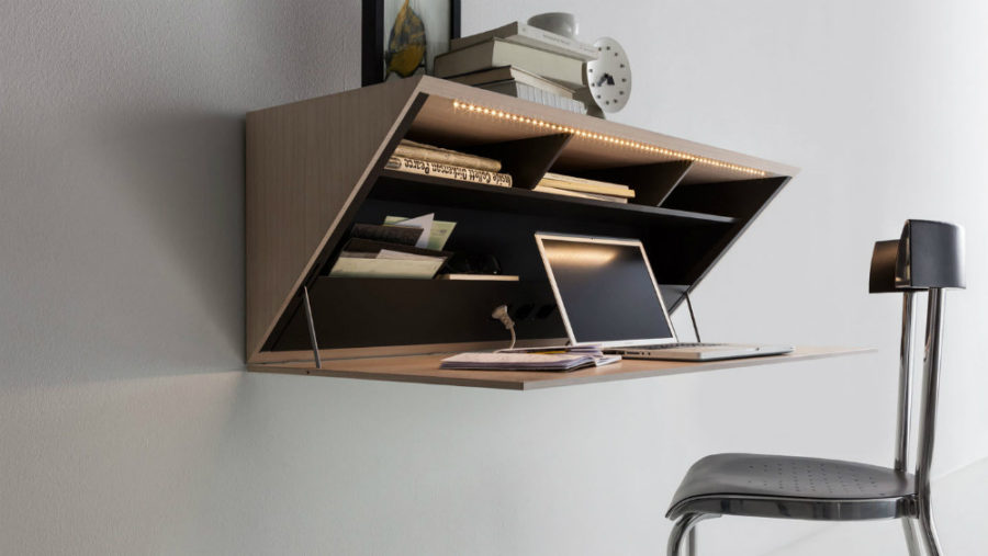 View in gallery Molteni wall-mounted desk