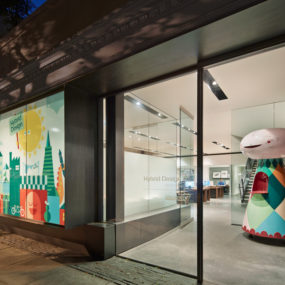 Creative Office Design in San Francisco With A Frosted Window decal