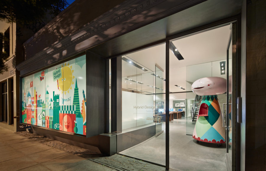 Creative Office Designs creative office design in san francisco with a frosted window decal