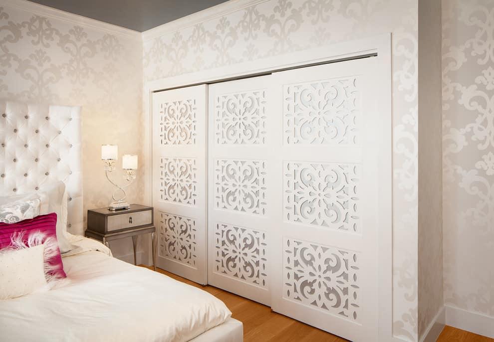 Ornate bedroom closet