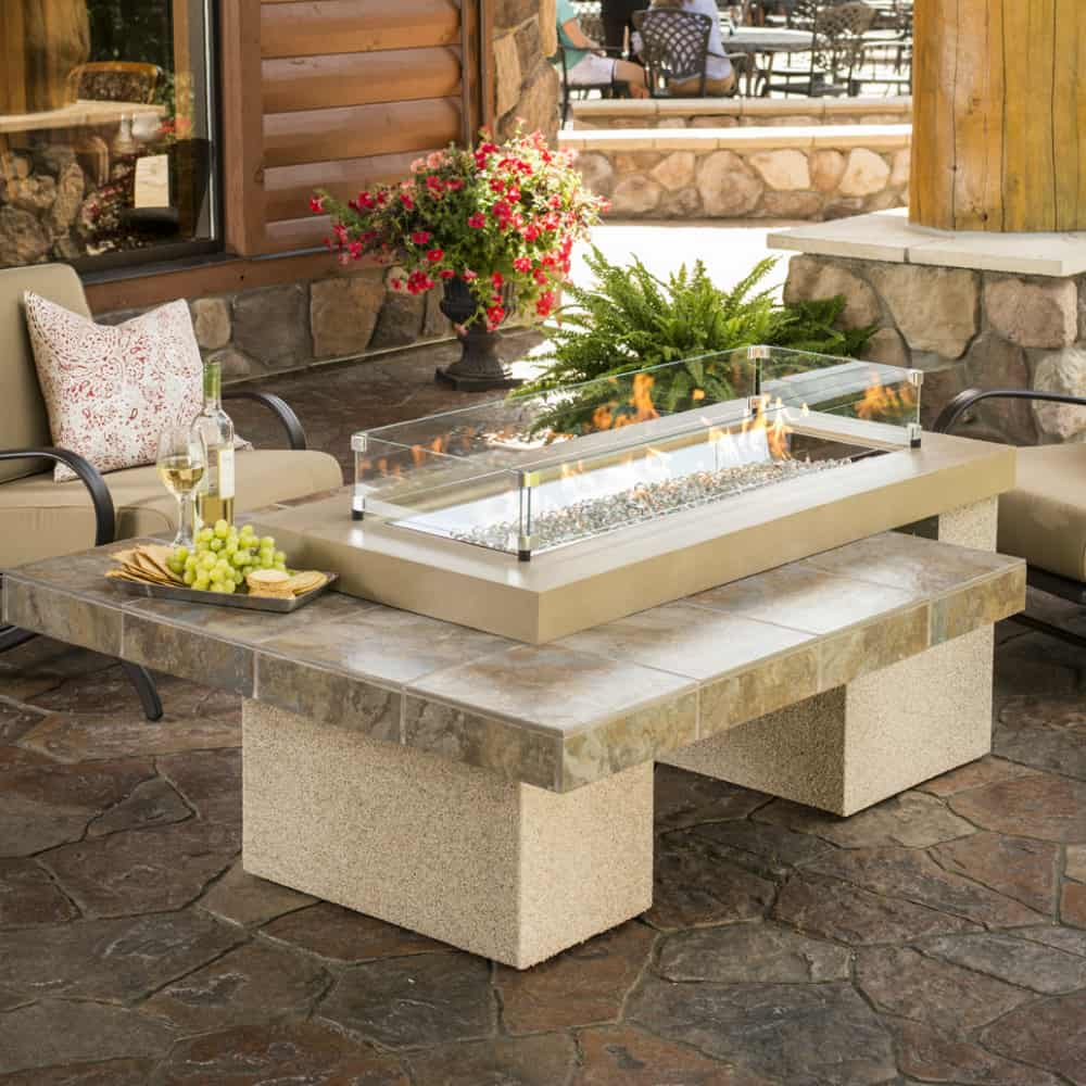 Outdoor GreatRoom Company Uptown Crystal Fire Pit Table