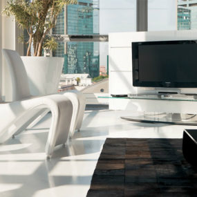 Pacini Cappellini Screen TV stand 285x285 44 Modern TV Stand Designs for Ultimate Home Entertainment