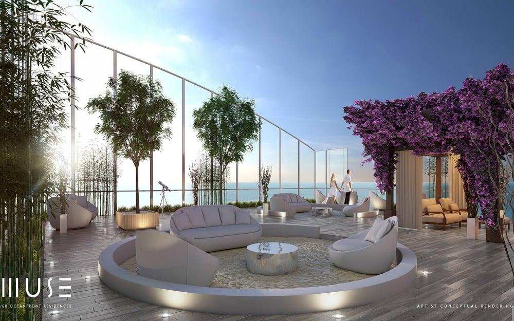 Penthouse sky garden