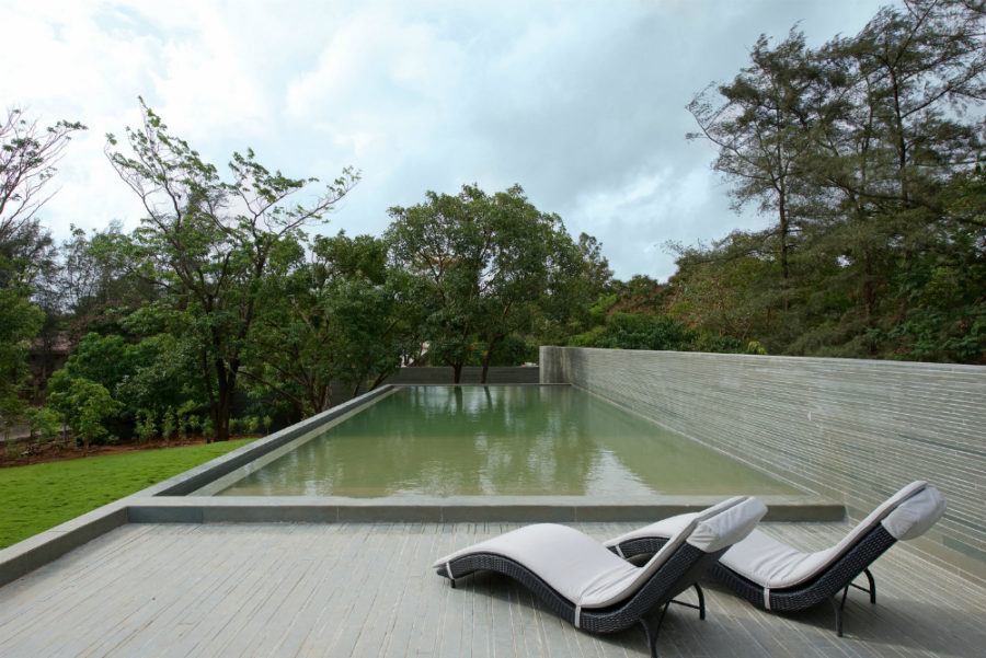 Pool deck with incredible views of the surrounding greenery