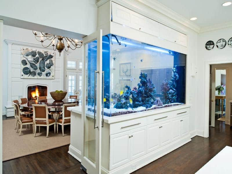 Amazing built in aquariums in interior design for Aquarium interieur