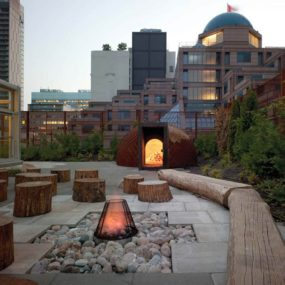 Rooftop fire pit by Scott Torrance Landscape Architects 285x285 Turn Up the Heat With a Stylish Fire Pit
