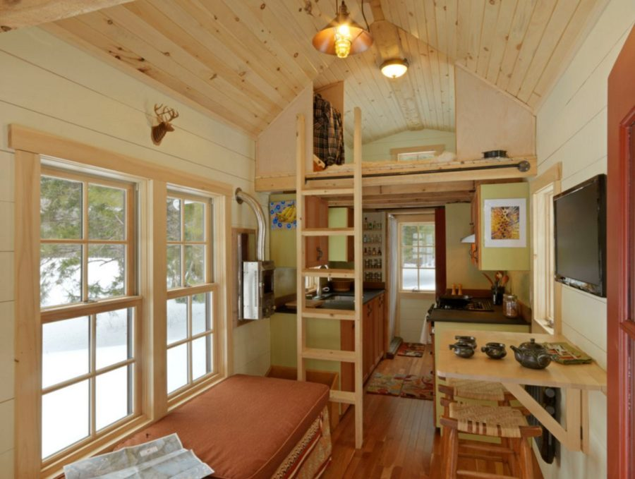 View In Gallery Small Rustic Interior Design For A Tiny House