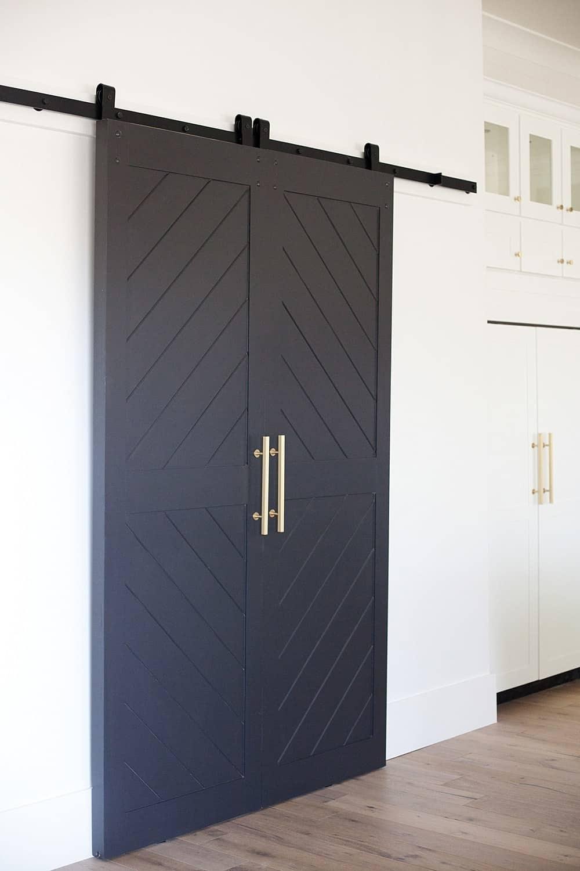 Sophisticated barn door