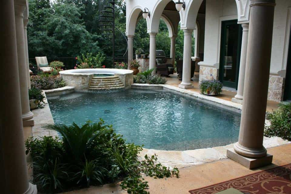 Spa pool design by Pulliam