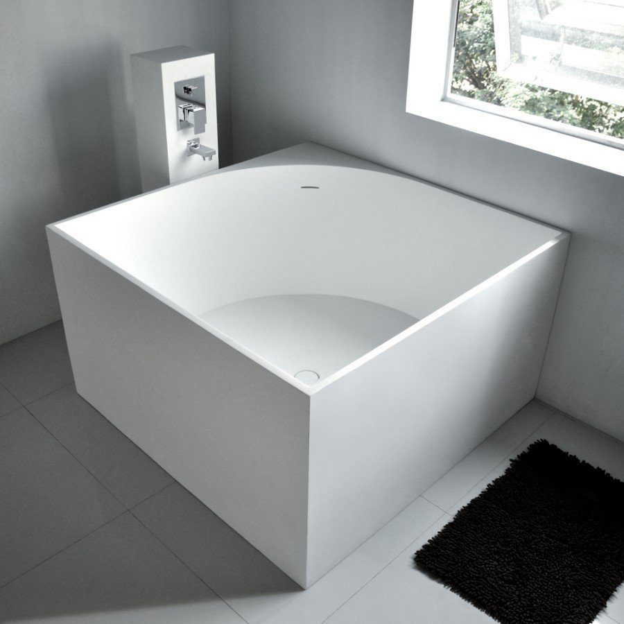 View In Gallery Square Freestanding Bath Tub 41 X From Adm Bathroom Design