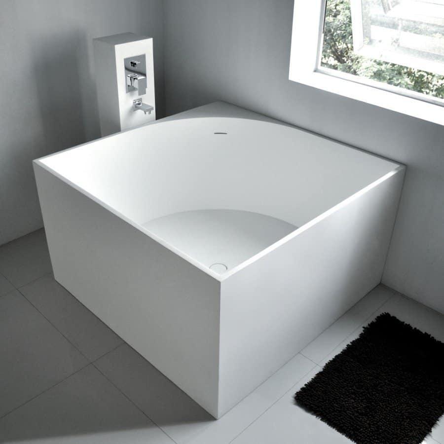 Square Freestanding Bath Tub 41′ x 41′ from ADM Bathroom Design