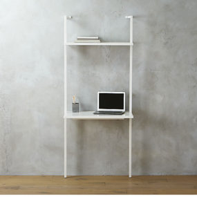 Stairway white desk 285x285 Best Wall Mounted Desk Designs For Small Homes