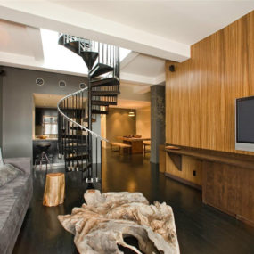 Stephen Dorffs Chelsea penthouse 285x285 Celebrity Living: Luxury New York Penthouses