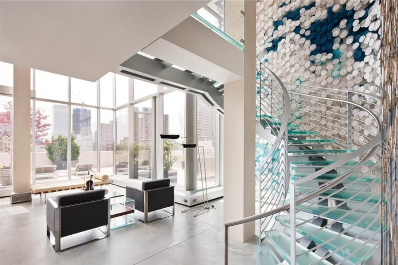Marvelous View In Gallery Striking Tribeca Duplex Penthouse Nice Look